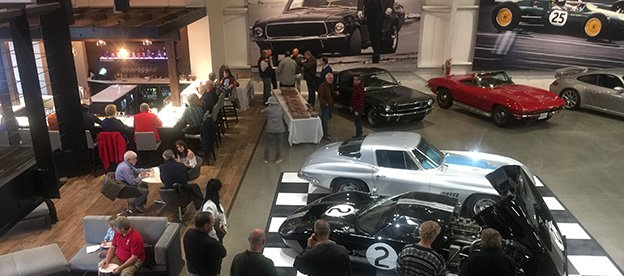 Atlanta Motorcar - View of car storage gallery from bar